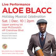 Baldwin Hills Crenshaw Winter Wonderland event with Aloe Blacc!