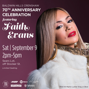 Faith Evans Performing live - Baldwin Hills Crenshaw's 70th Anniversary Celebration