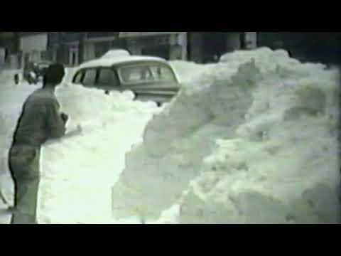 Ludington, Michigan - snow scenes of 1947 (8mm B&W film)