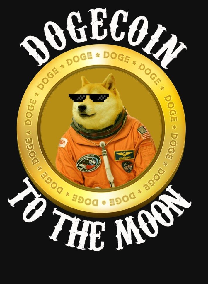 raf,2050Dogecoin To The Moon T Shirt