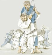 ippon seoi nage drawing