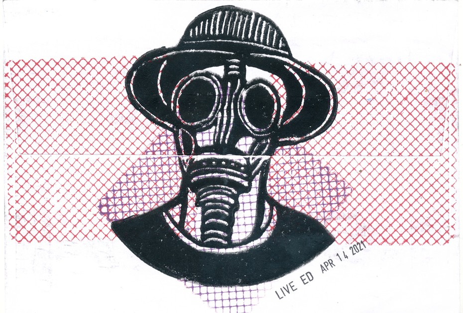 LIVE ED Giecek's masked man
