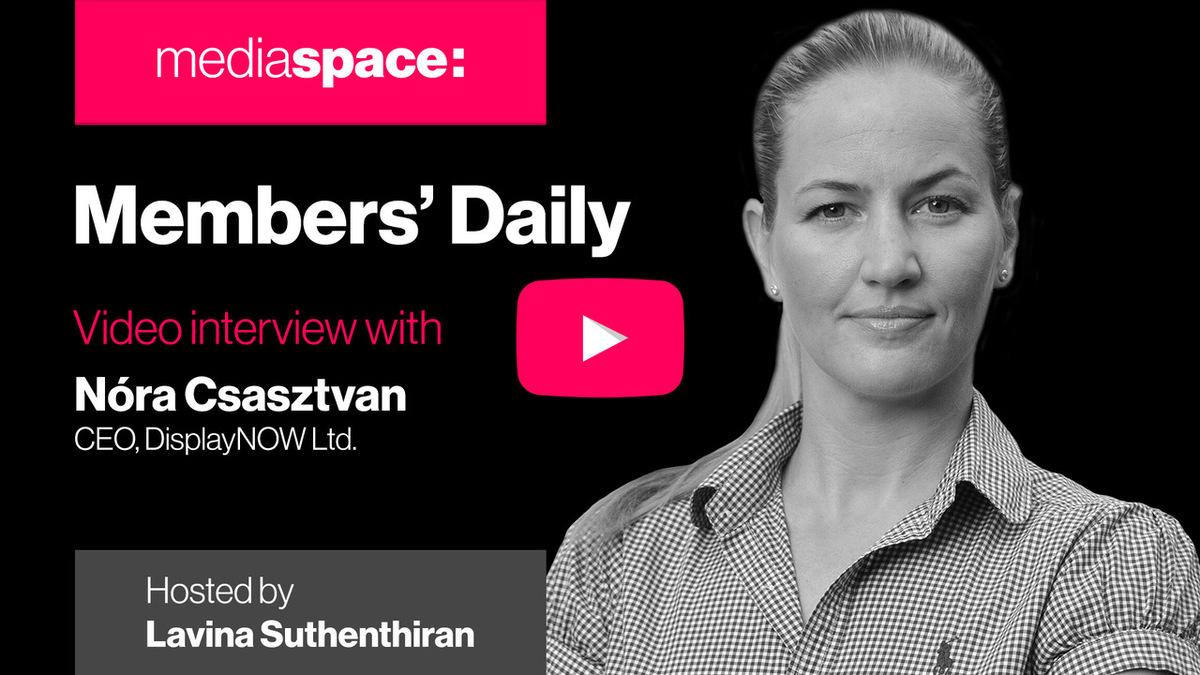 Exclusive video interview with Nora Csasztvan, DisplayNow
