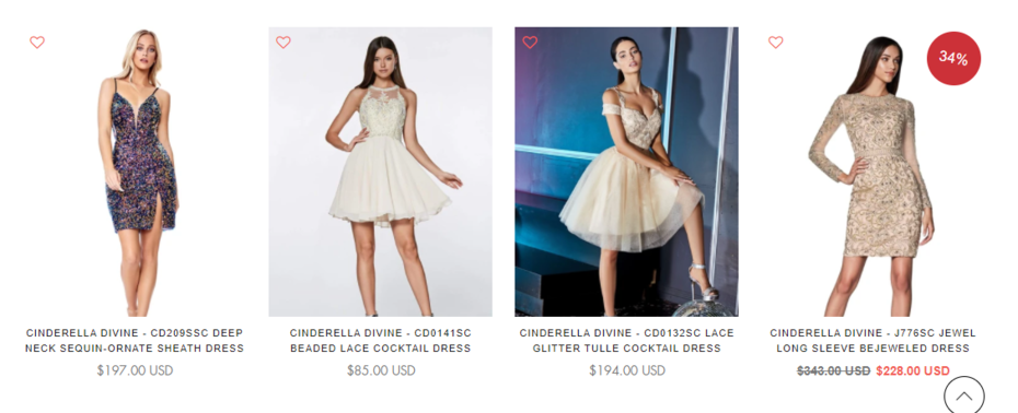 Purchase Handpicked Short Prom Dresses On Clearance Sale