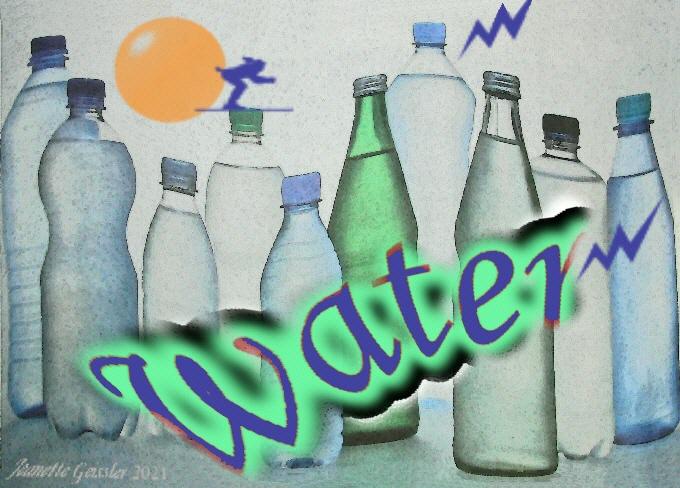"Jeanette Geissler – ""water bottles – Wasserflaschen – Garrafas de água"""