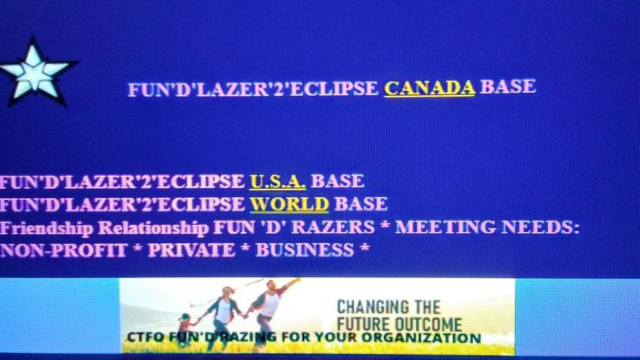 FUN'D'LAZER'2'ECLIPSE CANADA U.S.A. WORLD BASES PHOTO