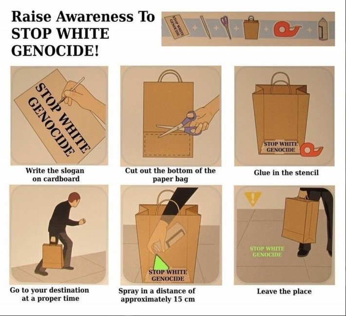 Raise Awareness To - STOP WHITE GENOCIDE