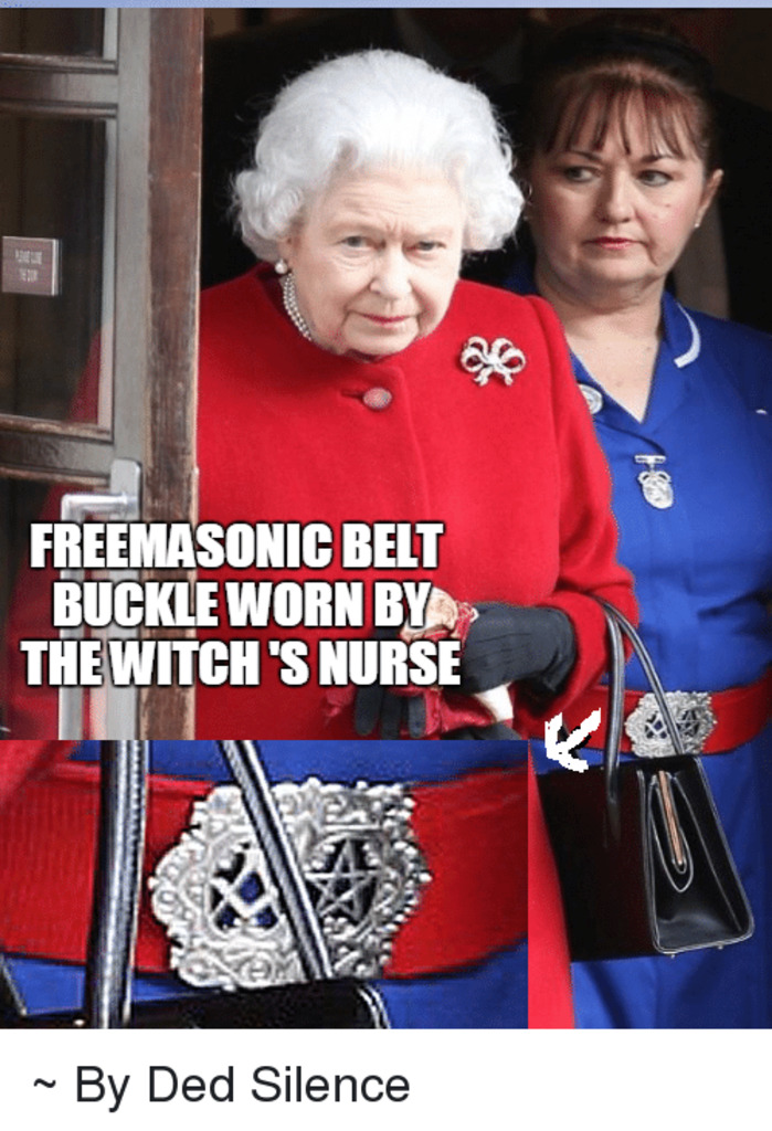 The old evil Germanic-Jew Witch's Nurses belt buckle