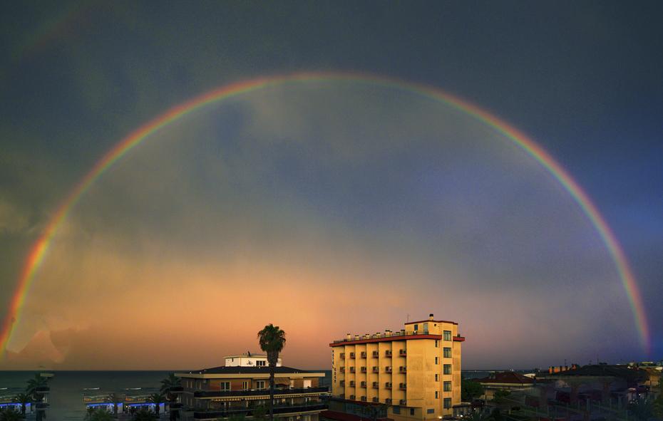 Grottammare  l'arcobaleno