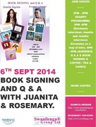 6TH Sept 2014: 3PM-5PM: HUSK COFFEE: Book Signing with Juanita Ingram and Rosemary Chileshe. JOIN US.