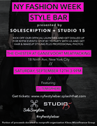 NYFW STYLE BAR PRESENTED BY SOLESCRIPTION AND STUDIO 15