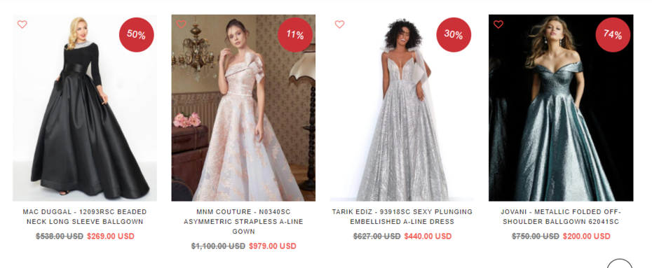 Fascinating and Fairy Prom Ball Gowns For Sale
