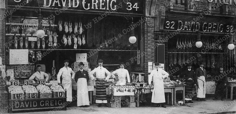 David Greig's first shop Hornsey High Street, c1905
