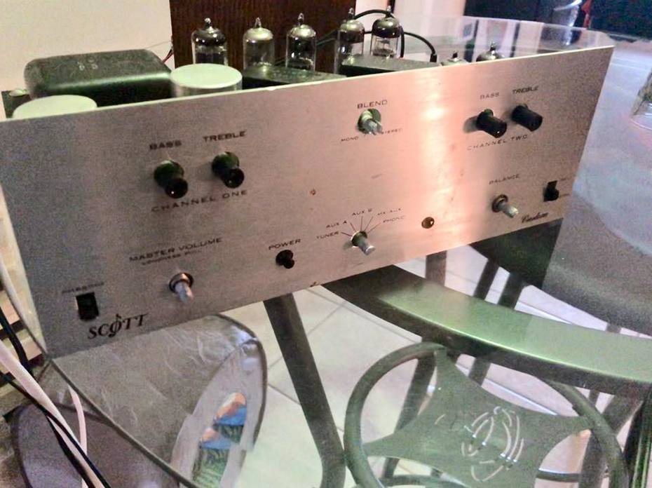 60's 2 channel E.H. Scott amp