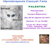 PALESTRA GRATUITA - HIPNOTERAPIA - HIPNOSE - REGRESSÃO - ABDUÇÃO - CONTATO MULTIDIMENSIONAL