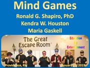 Mind Games at The Great Escape Room in Providence RI on January 25, 2019