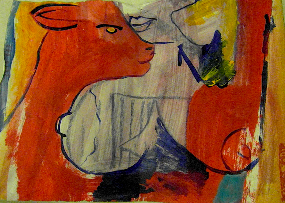 painting on paper
