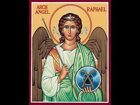 Saint Raphaël archange, protecteur des désespérés et des personnes tentées du suicide, par A Dumouch