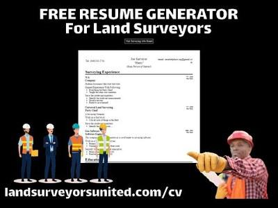 Free Resume Generator For Land Surveyors (PART ONE)