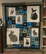 Thistle Animals quilt top