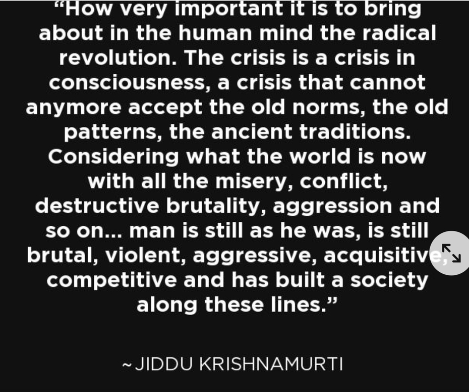 The crisis in consciousness