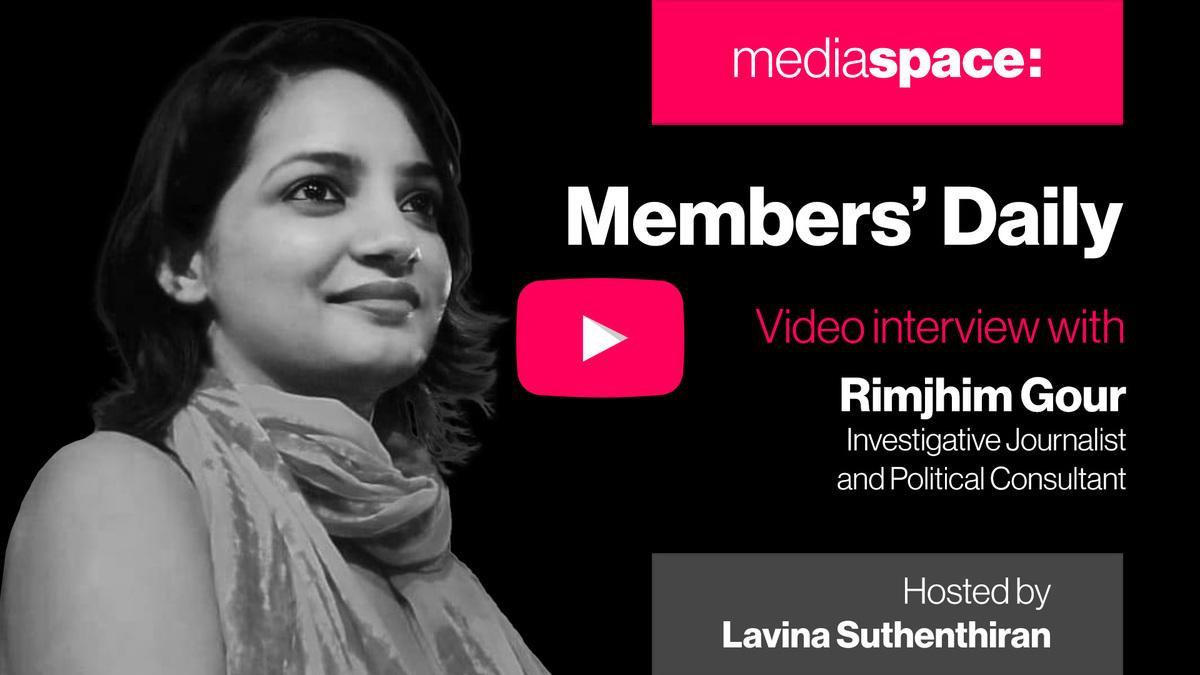 Exclusive video interview with Rimjhim Gour, investigative journalist