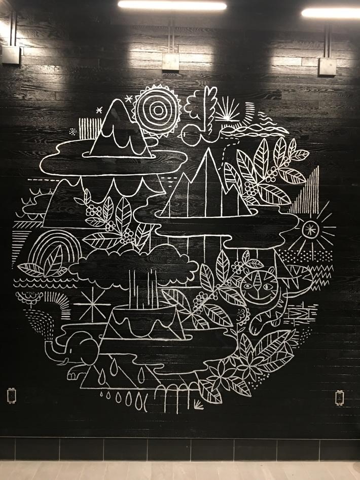 Starbucks Coffee themed Mural - Hurt Plaza Atlanta