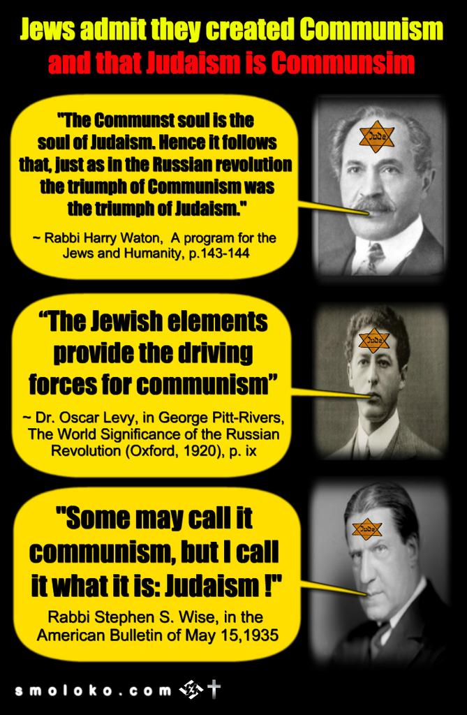 Jews admit they created communism