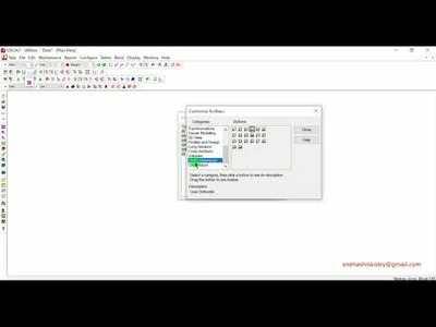 Customize LISCAD Toolbar