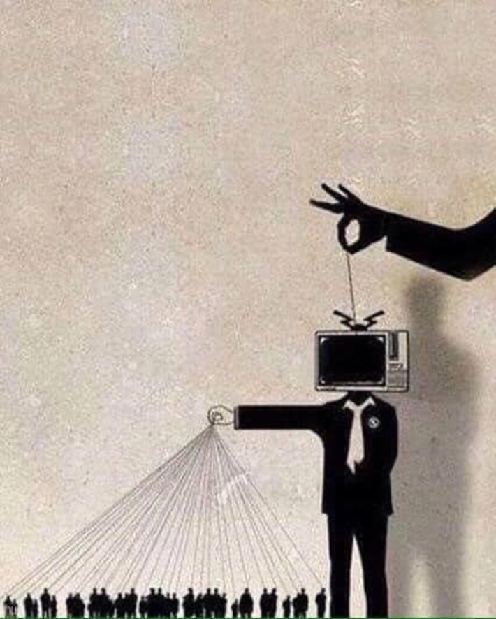 The media's the most powerful entity on earth,mass mind control