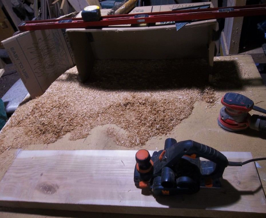 Truing cherry slab for lap steel build