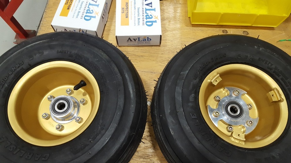 New correct wheel halves from Matco
