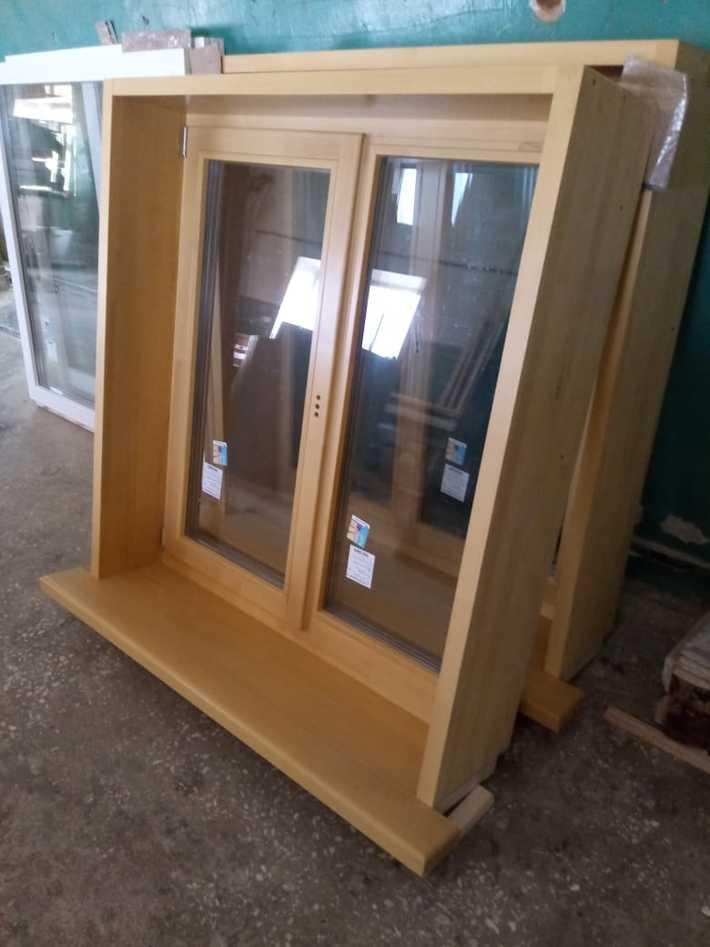 Деревянные евро-окна в коробах для деревянных домов