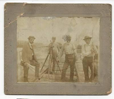 Cabinet Card -1890 - Railroad Surveyors & Transit, New Brighton, PA