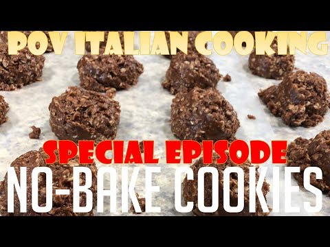 No-Bake Peanut Butter Oatmeal Cookies - POV Italian Cooking Special Episode