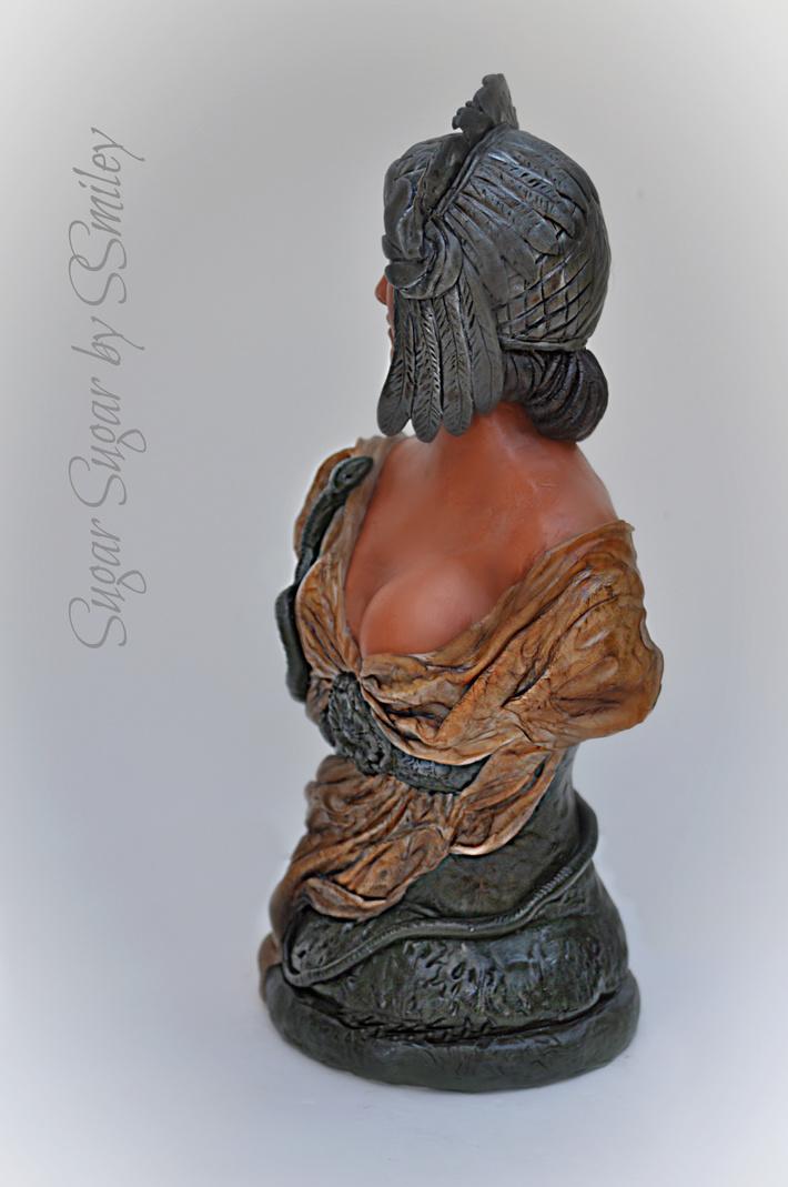 Cleopatra Terracotta Bust