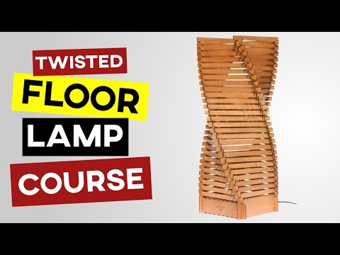 Twisted Floor Lamp