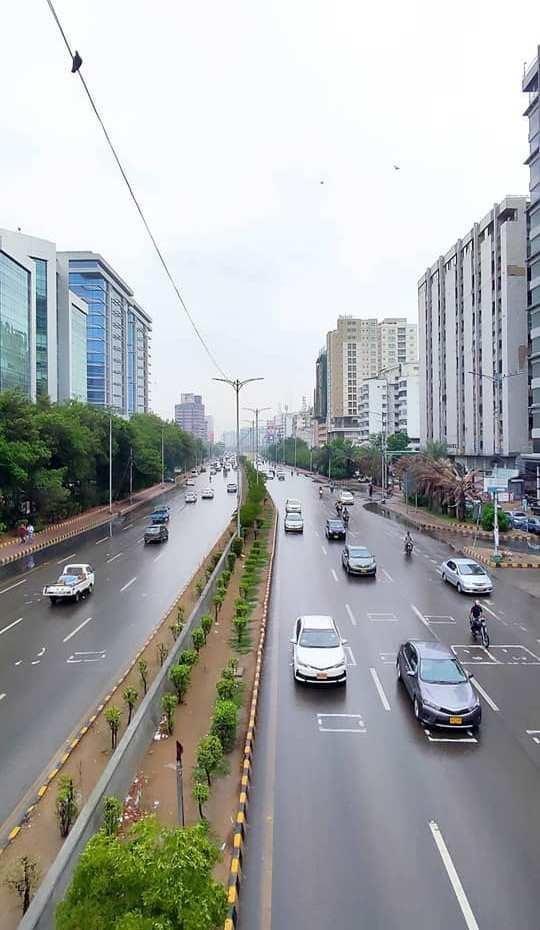 Rain Soaked Karachi Street
