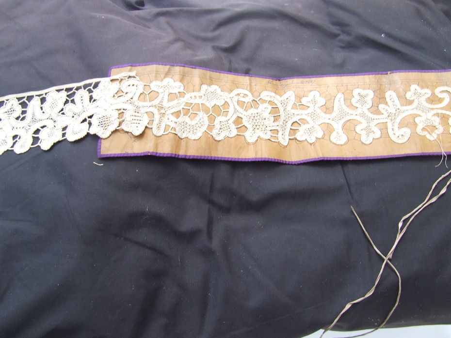 19c unfinished tape lace