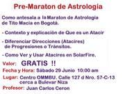 Conferencia PRE-MARATON de Astrología Bogotá