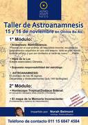 Taller de Astroanamnesis, 15 y 16 de Noviembre, Argentina