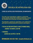 CURSO DE ASTROLOGÍA PROFESIONAL EN MARGARITA