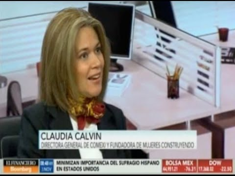 Entrevista a Claudia Calvin en El Financiero Bloomberg TV
