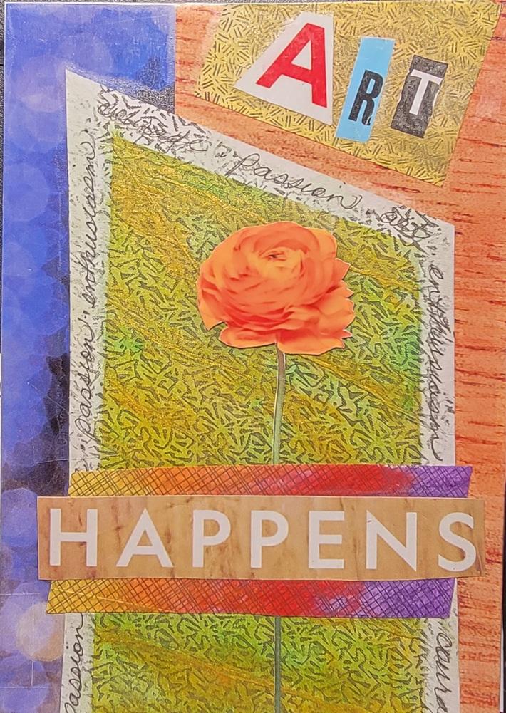 Art happens collage