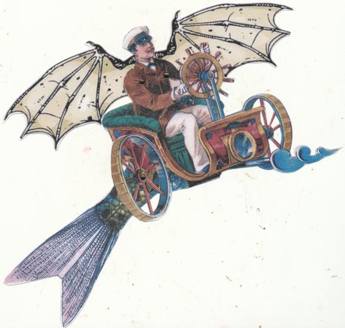 Kathy Barnett's flying man