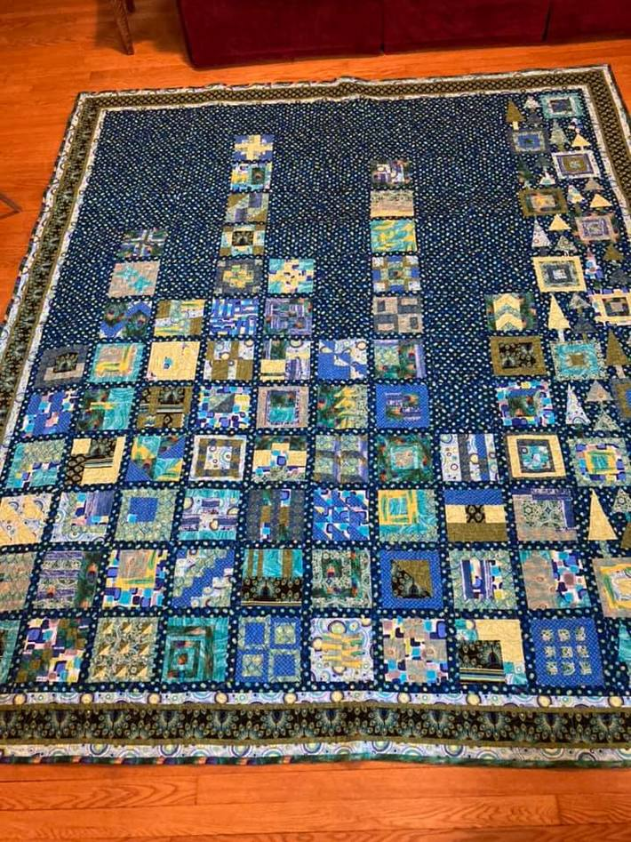Central Park, Midwest finished quilt
