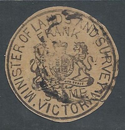 AUSTRALIA FRANK STAMP VICTORIA MINISTER OF LANDS