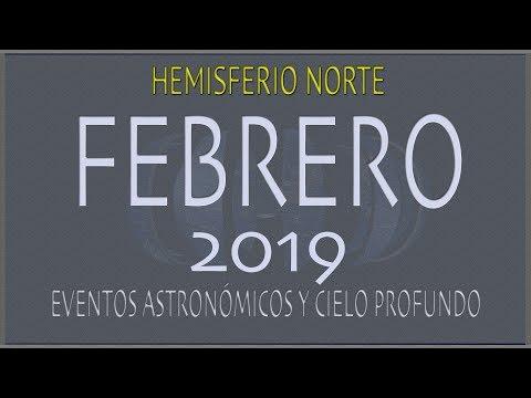 CIELO DE FEBRERO 2019. HEMISFERIO NORTE