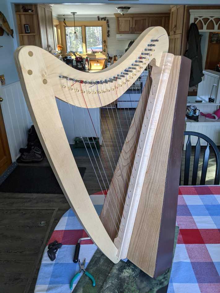 My home made 22 string folk harp