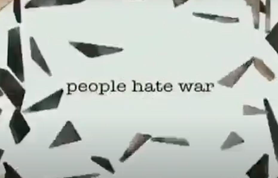people hate war